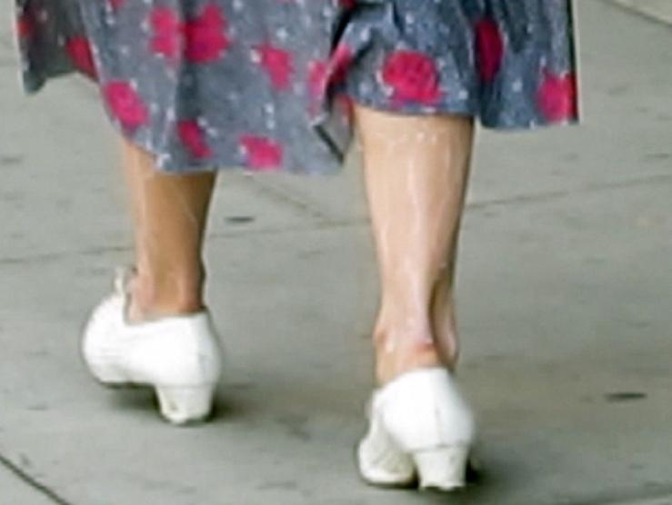 on my walk milk streamed down my legs.